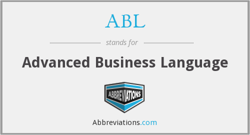 ABL - Advanced Business Language