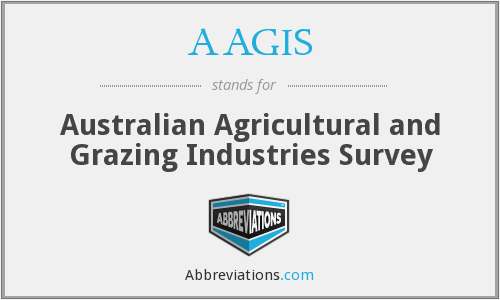 AAGIS - Australian Agricultural and Grazing Industries Survey