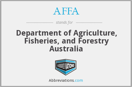 AFFA - Department of Agriculture, Fisheries, and Forestry Australia