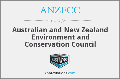 What does ANZECC stand for?