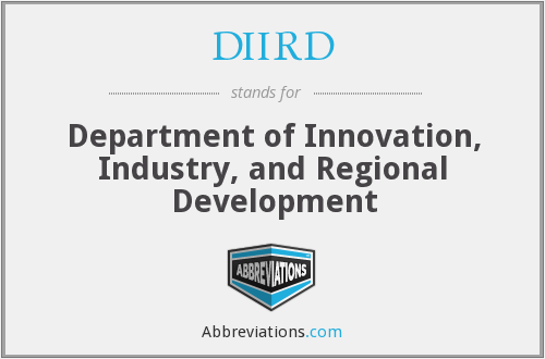 DIIRD - Department Of Innovation, Industry And Regional Development