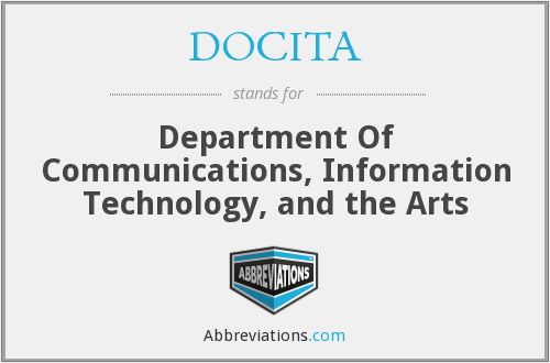 DOCITA - Department Of Communications, Information Technology And The Arts