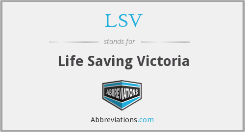 LSV - Life Saving Victoria