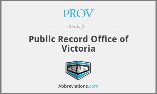 PROV - Public Record Office of Victoria