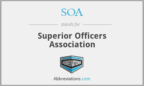 SOA - Superior Officers Association
