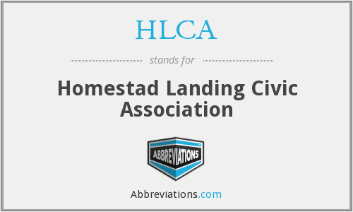 HLCA - Homestad Landing Civic Association