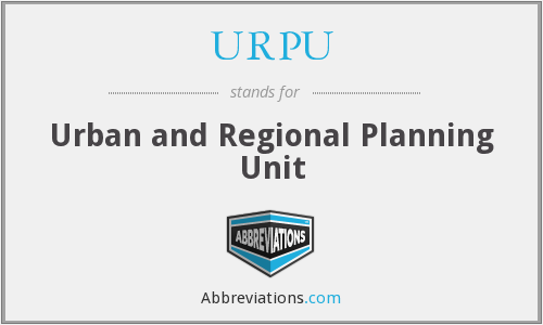 URPU - Urban and Regional Planning Unit