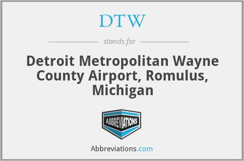 DTW - Detroit Metropolitan Wayne County Airport, Romulus, Michigan