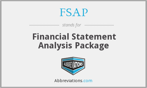 FSAP - Financial Statement Analysis Package