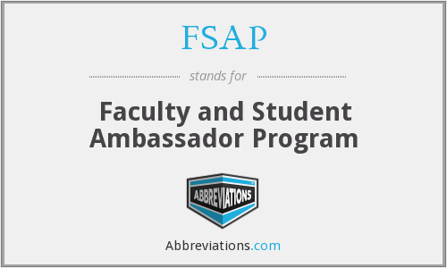 FSAP - Faculty and Student Ambassador Program