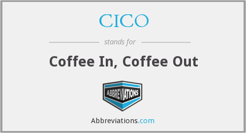 CICO - Coffee In, Coffee Out
