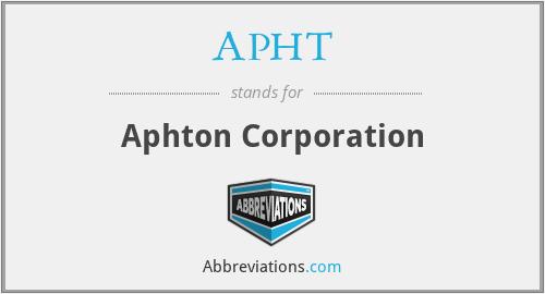 APHT - Aphton Corporation