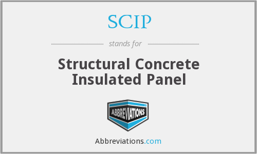 SCIP - Structural Concrete Insulated Panel
