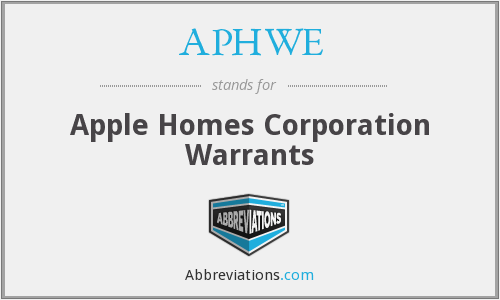 What does APHWE stand for?