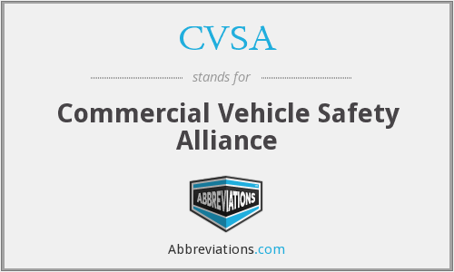 CVSA - Commercial Vehicle Safety Alliance