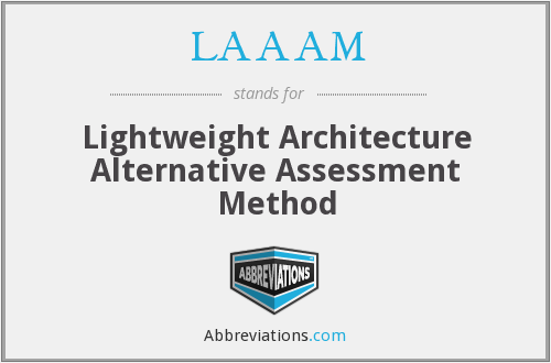 LAAAM - Lightweight Architecture Alternative Assessment Method