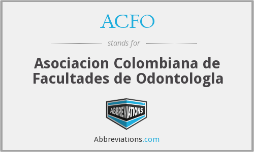 ACFO - Asociacion Colombiana de Facultades de Odontologla