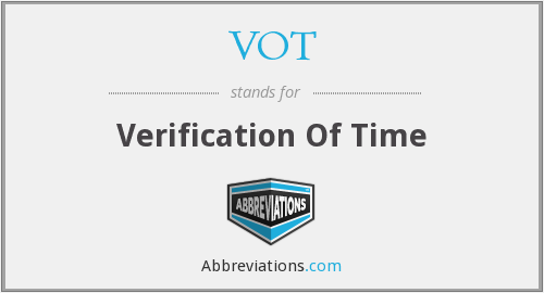 VOT - Verification Of Time