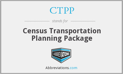 CTPP - Census Transportation Planning Package