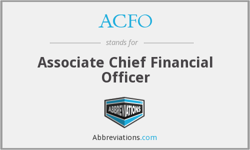 ACFO - Associate Chief Financial Officer