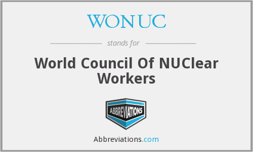 WONUC - World Council Of NUClear Workers