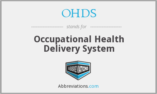 OHDS - Occupational Health Delivery System