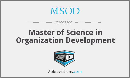 MSOD - Master of Science in Organization Development