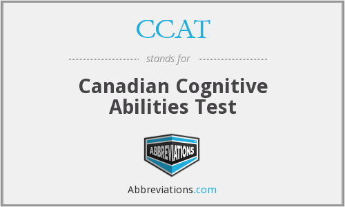 CCAT - Canadian Cognitive Abilities Test