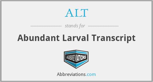 ALT - Abundant Larval Transcript