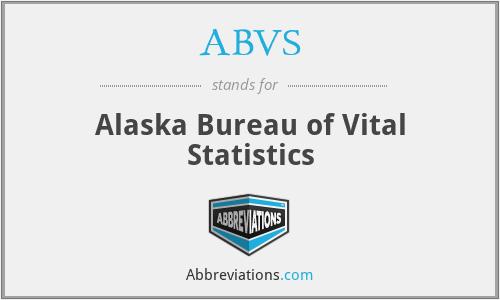 ABVS - Alaska Bureau of Vital Statistics