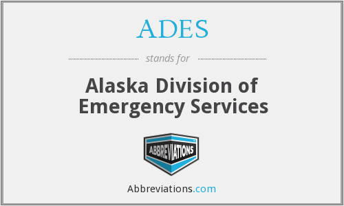 ADES - Alaska Division of Emergency Services