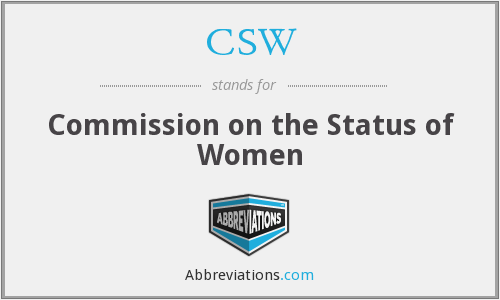 CSW - Commission on the Status of Women