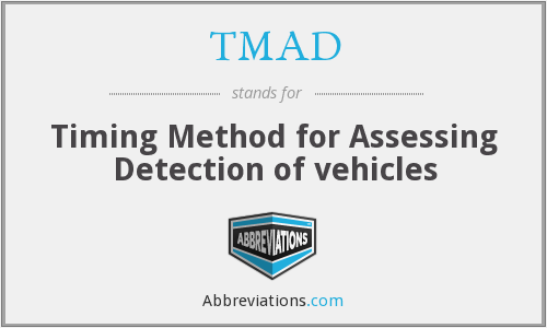 TMAD - Timing Method for Assessing Detection of vehicles