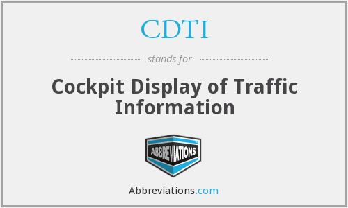 CDTI - Cockpit Display of Traffic Information