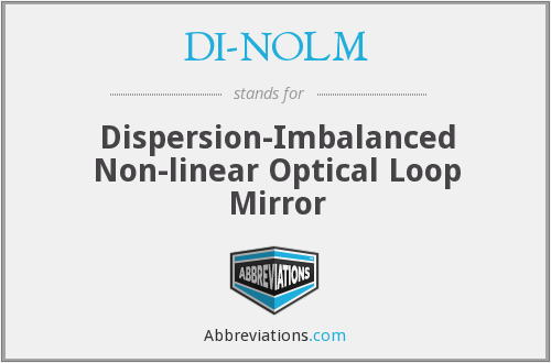 DI-NOLM - Dispersion-Imbalanced Non-linear Optical Loop Mirror