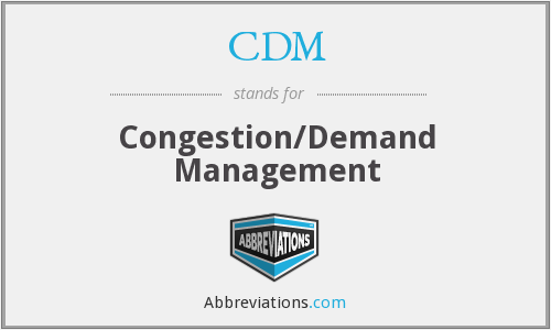 CDM - Congestion/Demand Management