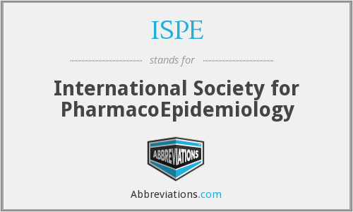 ISPE - International Society for PharmacoEpidemiology