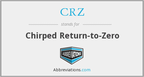 CRZ - Chirped Return-to-Zero