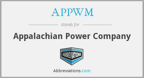 What does APPWM stand for?