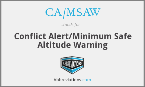 CA/MSAW - Conflict Alert/Minimum Safe Altitude Warning