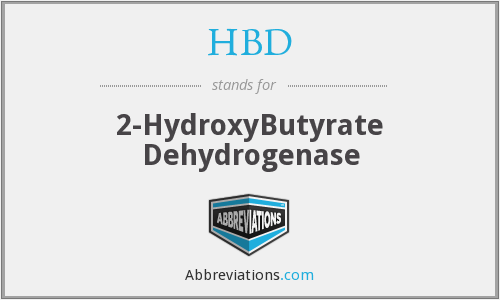HBD - 2-HydroxyButyrate Dehydrogenase