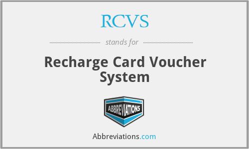 RCVS - Recharge Card Voucher System