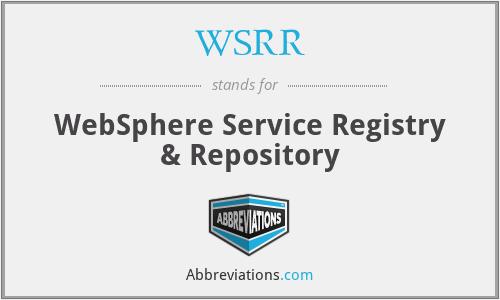 WSRR - WebSphere Service Registry & Repository