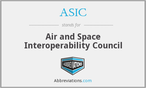 ASIC - Air and Space Interoperability Council