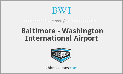 What does BWI stand for?