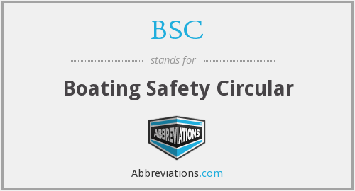 BSC - Boating Safety Circular