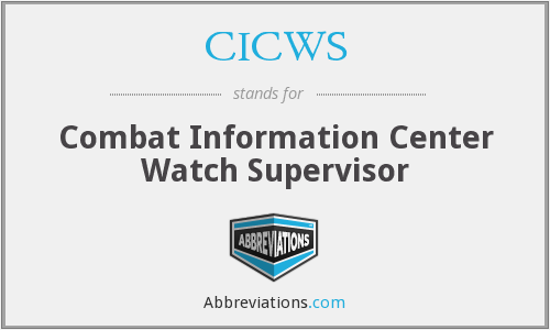 CICWS - Combat Information Center Watch Supervisor
