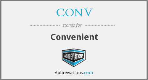 What is the abbreviation for convenient?