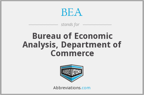 BEA - Bureau of Economic Analysis, Department of Commerce
