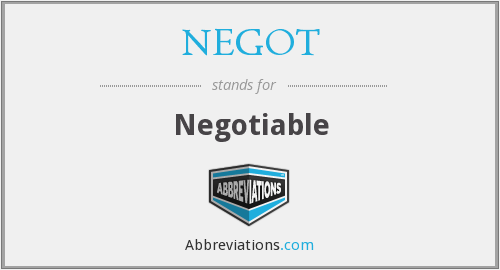 NEGOT - Negotiable